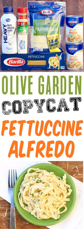 Fettucini Alfredo Recipe Olive Garden Copycat Easy