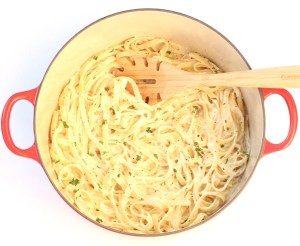 One Pot Fettuccine Alfredo Recipe! {Quick and Easy} - TheFrugalGirls.com
