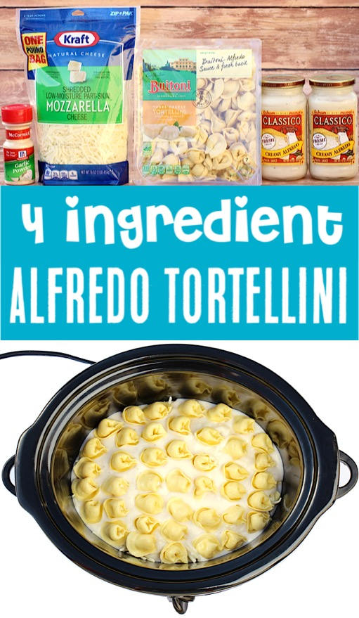 Crockpot Recipes Easy Meals - Alfredo Tortellini Recipe