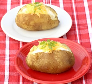 Pressure Cooker Baked Potatoes {Instant Pot Recipe from TheFrugalGirls.com}