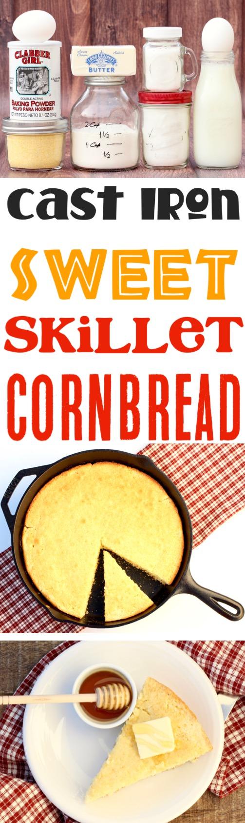Skillet Cornbread Cast Iron Sweet Recipe