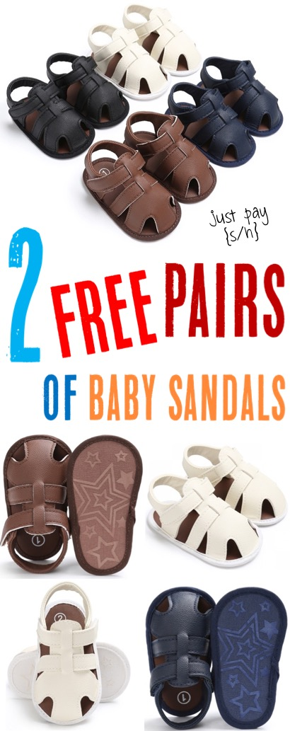 Baby Shoes for Newborn or Toddlers How to Get 2 Free Pairs of Sandals and just pay shipping