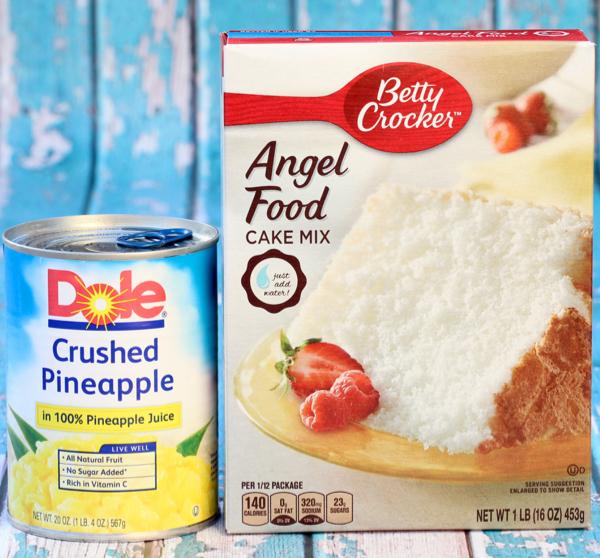 Pineapple Angel Food Cupcakes