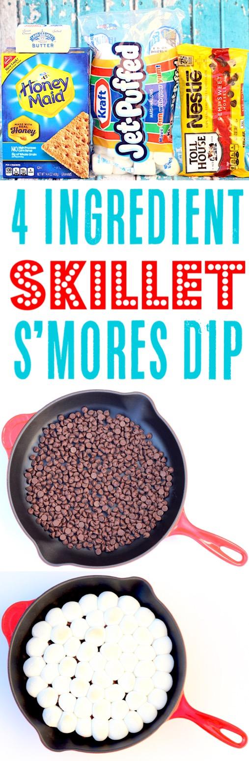 Skillet Dessert Recipes Cast Iron S'mores Dip