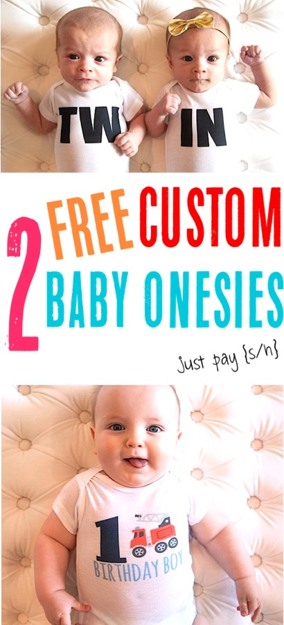 Free Baby Stuff By Mail How to Get 2 Free Customized Onesies for Babies