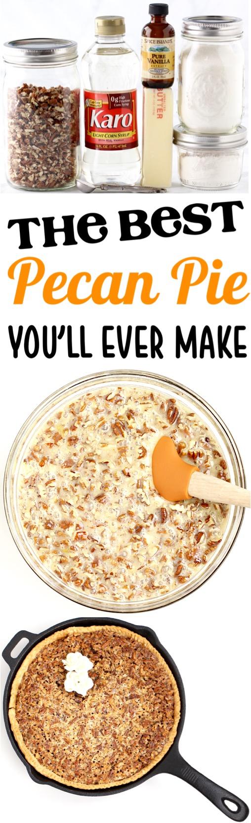 Easy Pecan Pie Recipe Simple Homemade Skillet Pies