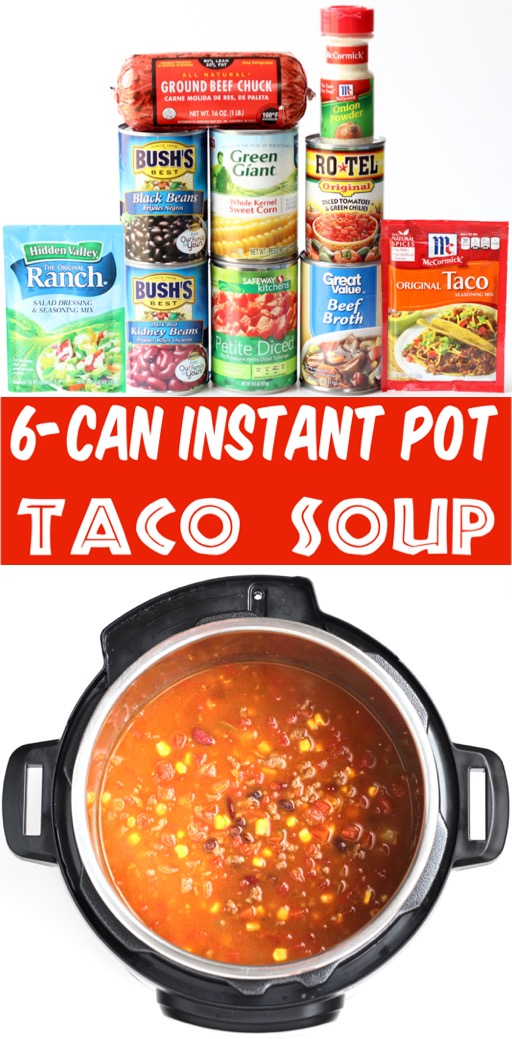 Instant Pot Soup Recipes - Healthy Easy Taco Soup using Hamburger Meat
