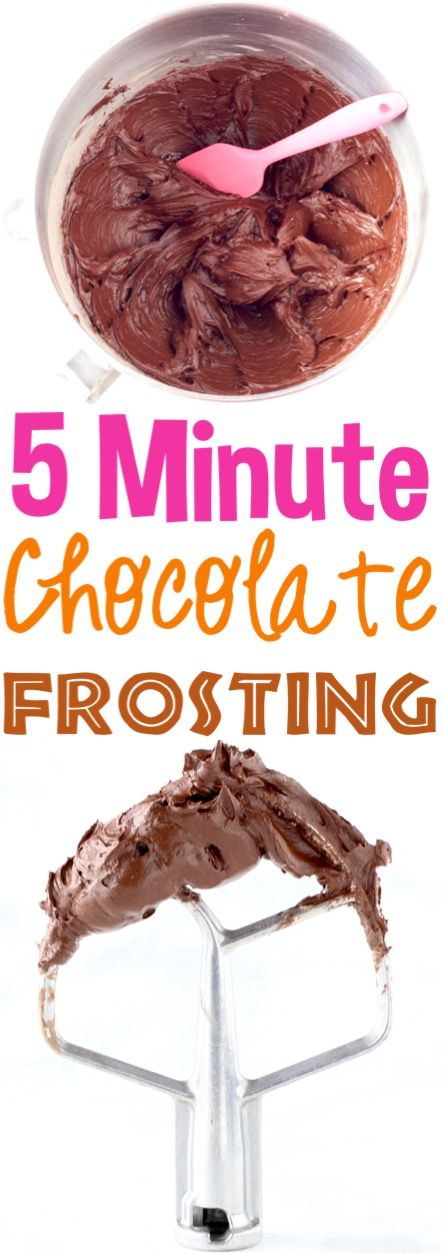 Chocolate Frosting Recipe Easy Homemade Buttercream Frosting Perfect for Cake, Cupcakes, Brownies, or Decorating Cookies 5 Ingredients