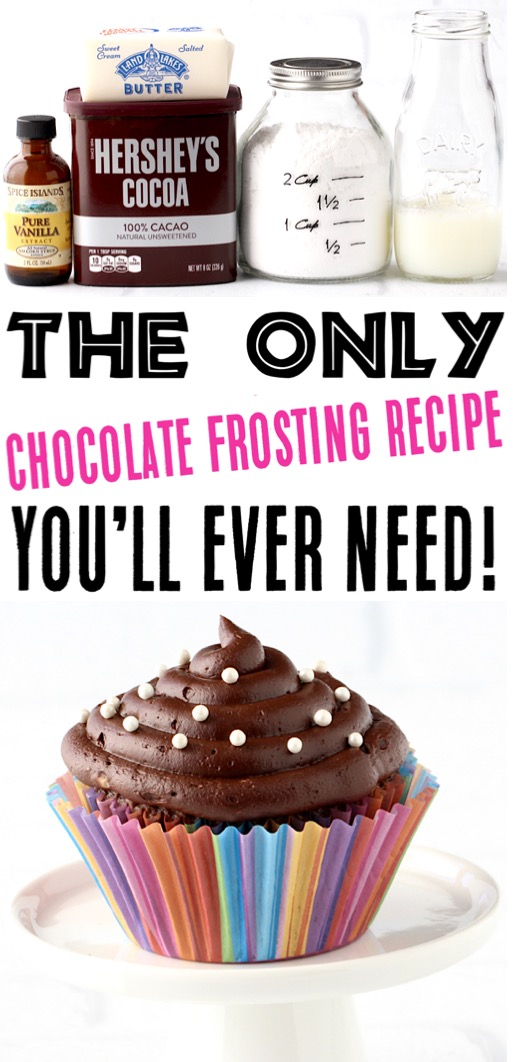 Chocolate Frosting Recipe Easy Homemade Frosting for Brownies Cakes and Cupcakes