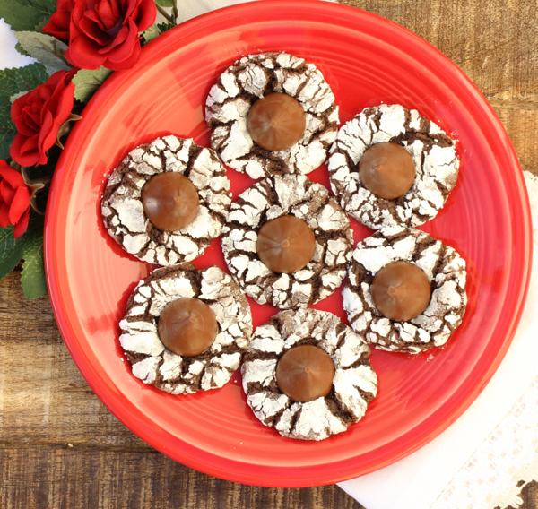 Chocolate Kiss Thumbprint Cookies Recipe