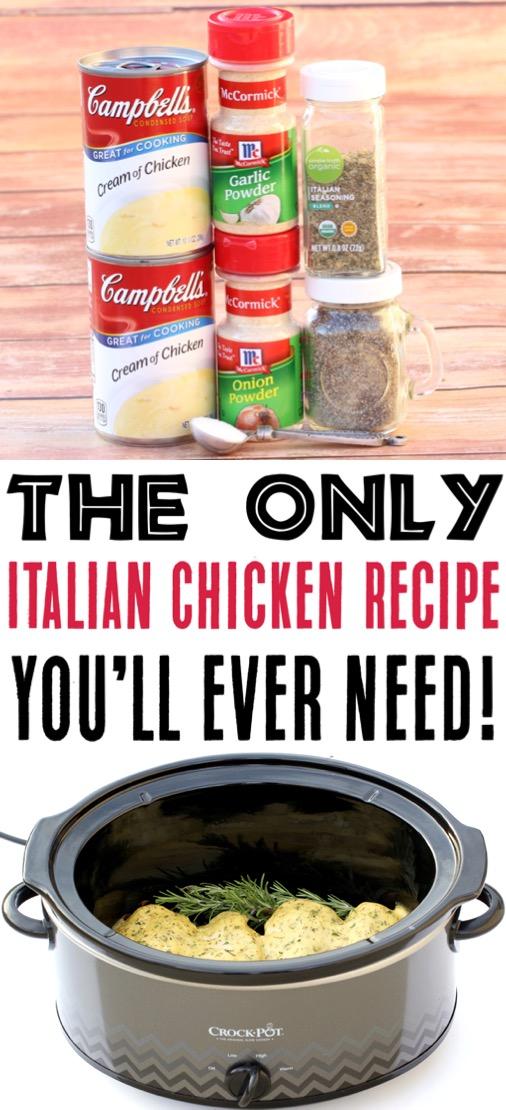 Crockpot Chicken Recipes Easy Italian Chicken Recipe