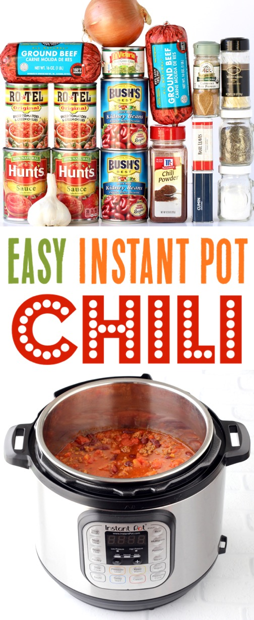 Instant Pot Chili Recipe Ground Beef Simple Dinner Recipes