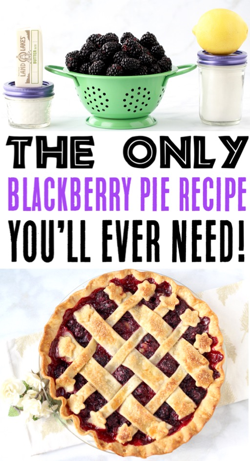 Blackberry Pie Recipe with Easy Homemade Filling