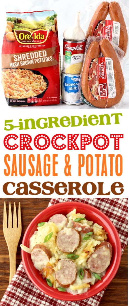 Crockpot Sausage and Potatoes Recipe with Cheese