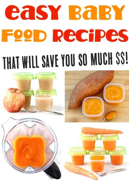 Baby Food Recipes Homemade Pureed Fruits and Vegetables for Babies Stage 1 and beyond