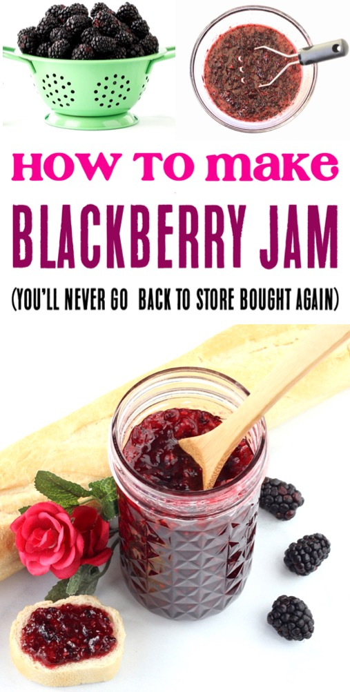 Blackberry Jam Recipe Easy Small Batch Canning Recipes for the Best Homemade Jams