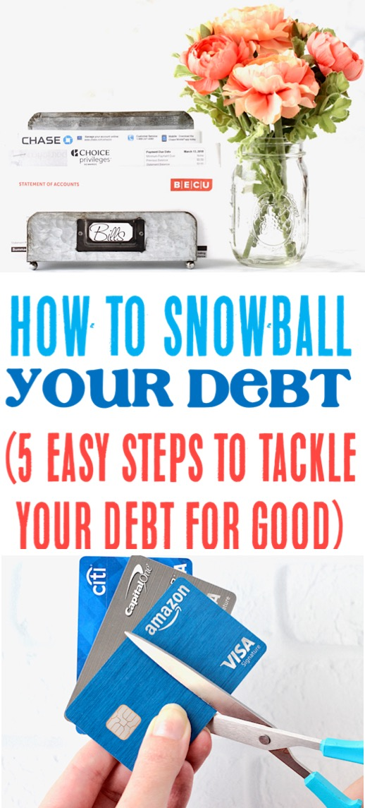 Debt Snowball - 5 Easy Payoff Tips for Debt Free Living
