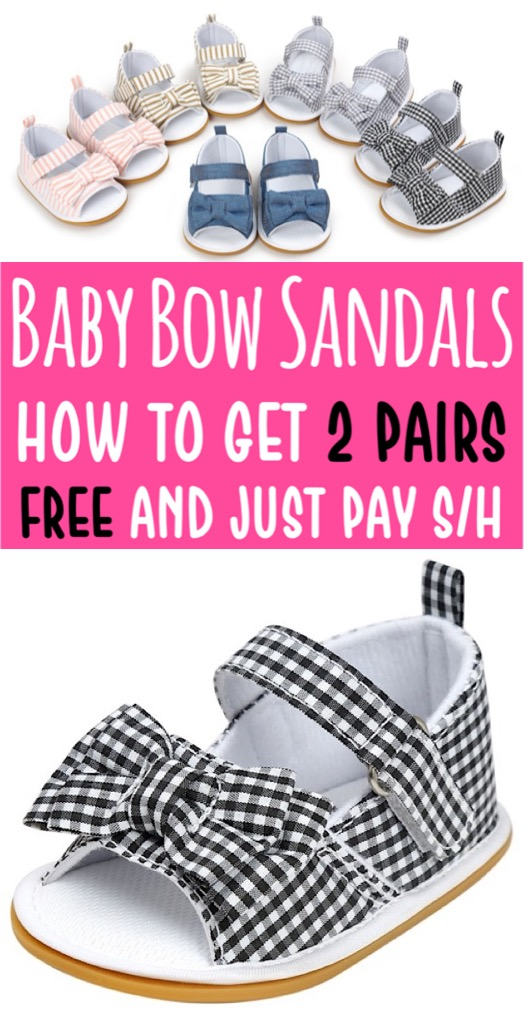 Sandals Summer Bow Knot Baby Sandal with Strap