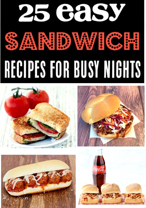 Sandwich Recipes and Build Your Own Sandwich Bar Ideas for Busy Nights or Parties