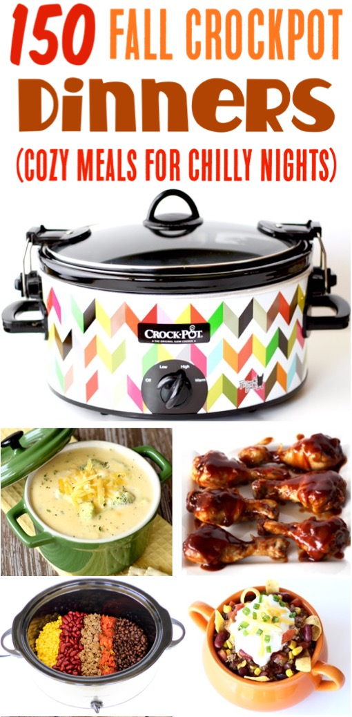 Crockpot Recipes Easy Fall Dinners the Family will Love