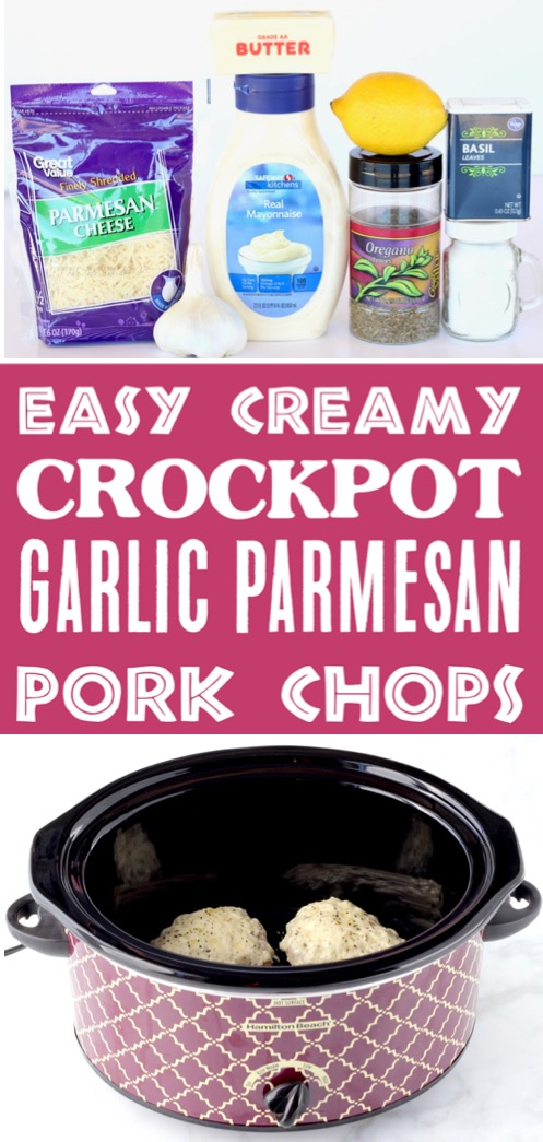 Garlic Parmesan Pork Chops Crock Pot Recipe Easy