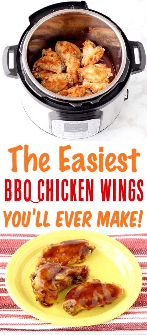 Instant Pot Chicken Recipes - Easy BBQ Wings Recipe - Simple and Just 3 Ingredients
