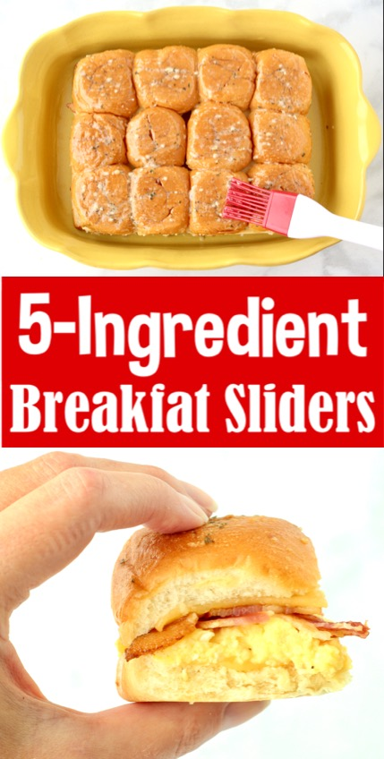 Breakfast Ideas for a Crowd - Easy Sliders with Bacon Egg and Cheese