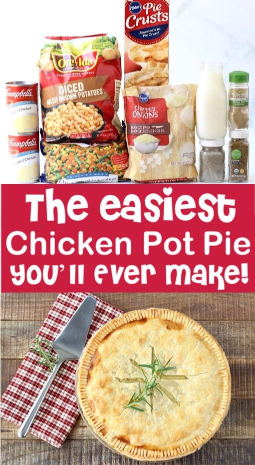 Chicken Pot Pie Recipe Easy Homemade Dinner with Pie Crusts