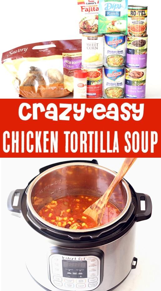 Instant Pot Chicken Soup Recipes Easy Healthy Tortilla Soup