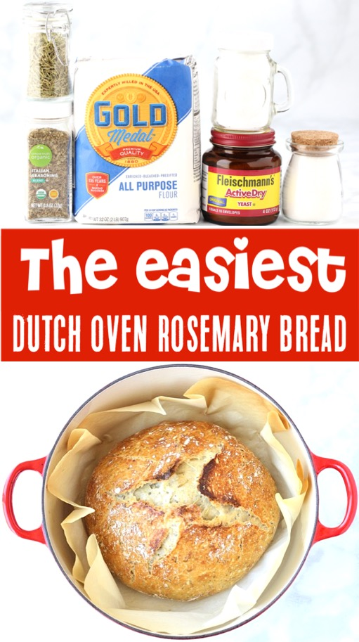 Dutch Oven Bread Recipes Easy Rosemary Artisan No Knead Bread Recipe