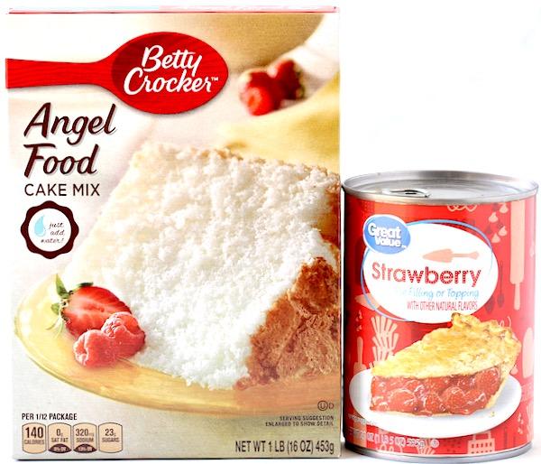 Strawberry Angel Food Dump Cake Recipe
