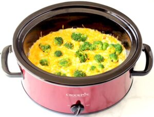 Crockpot Broccoli Cheese Rice Recipe Casserole Easy
