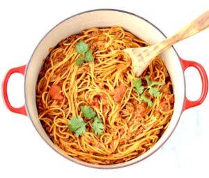 One Pot Taco Spaghetti Recipe Easy