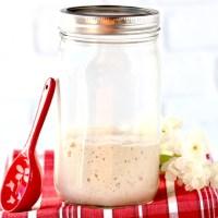 Sourdough Starter Recipe {Quick & Easy Homemade Bread Starter}