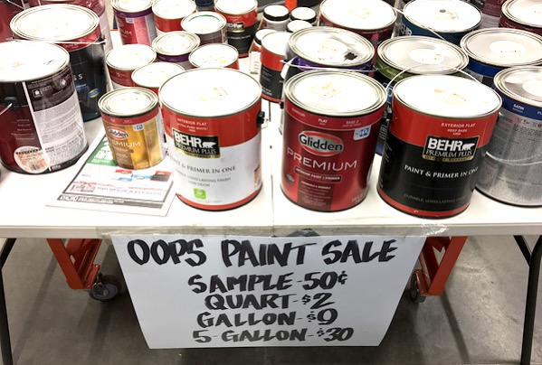 Home Depot Oops Paint Mis Tints