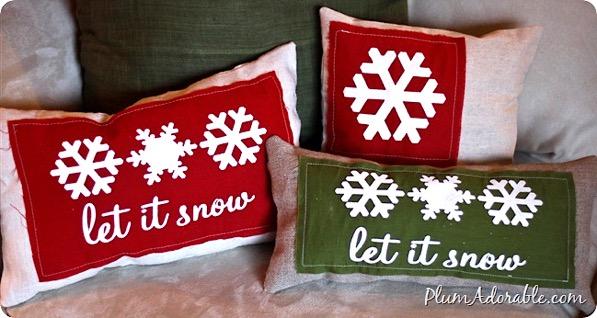 Burlap Stenciled Pillows