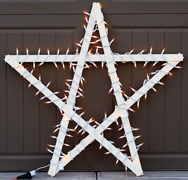 Yardstick Christmas Star DIY