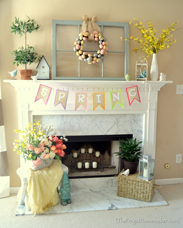 Easter Mantel Decorations