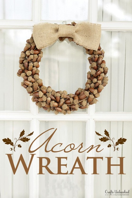 rustic acorn wreath
