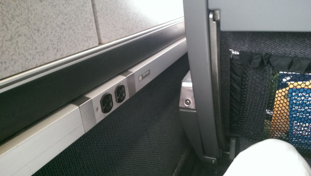 Power outlets on a train