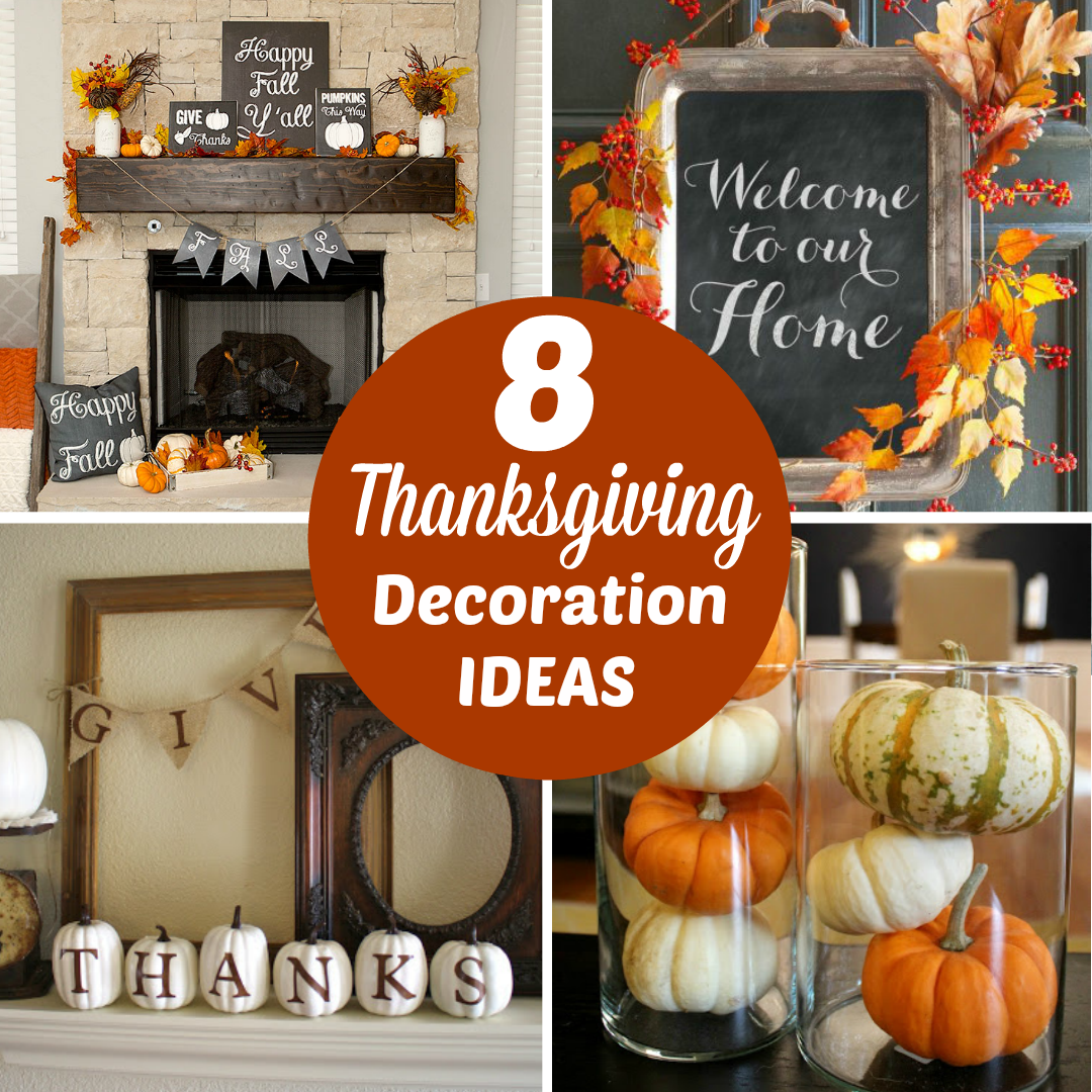 Here are 8 DIY Thanksgiving Decoration Ideas that are easy and won't break your budget!