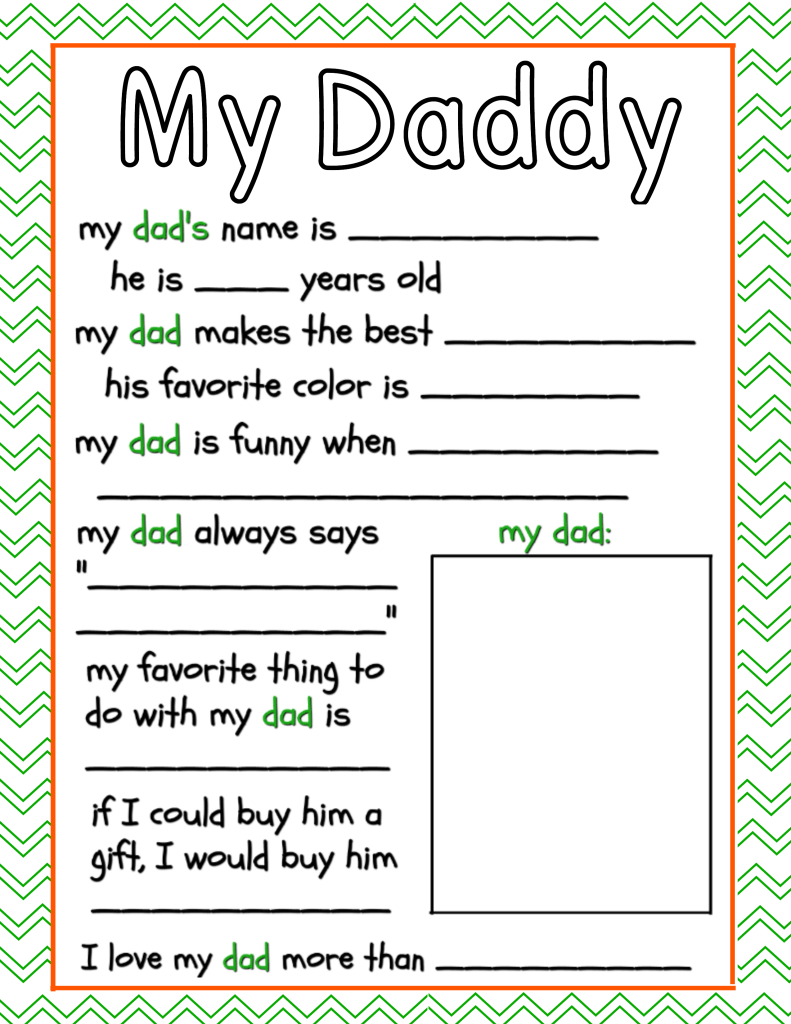 All About Dad Free Father S Day Printable The Frugal Sisters
