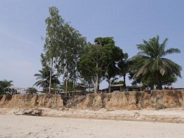 Restaurant seen from the beach
