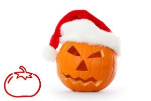 Christmas Jack-o-lantern