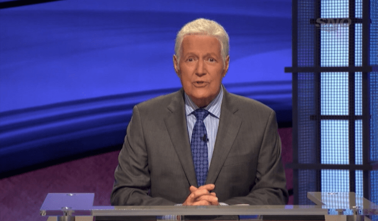 Alex Trebek announcing the Sens selection