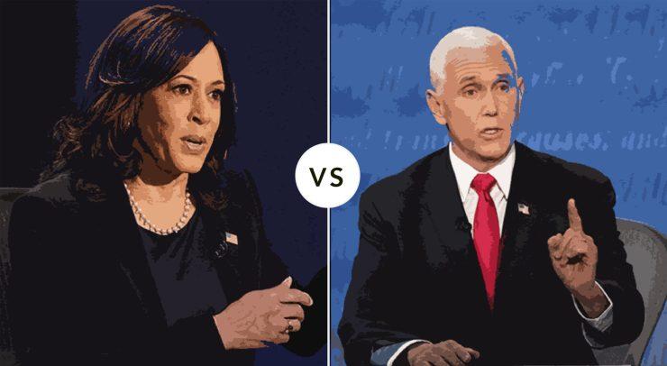 An illustration of last weeks VP debate