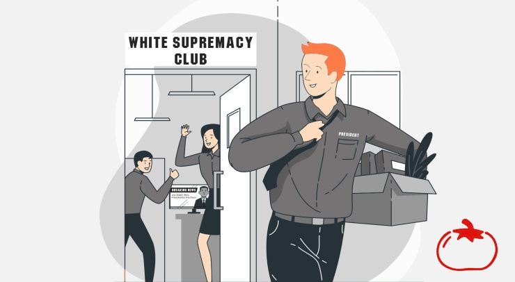 The local white supremacist president leaving the group