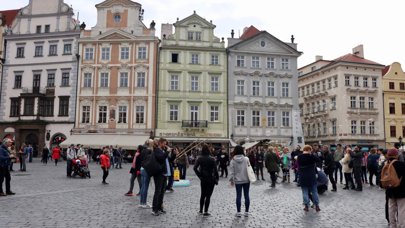 Colorful buildings in Old Town Square