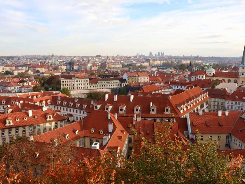 Elevated View of Prague
