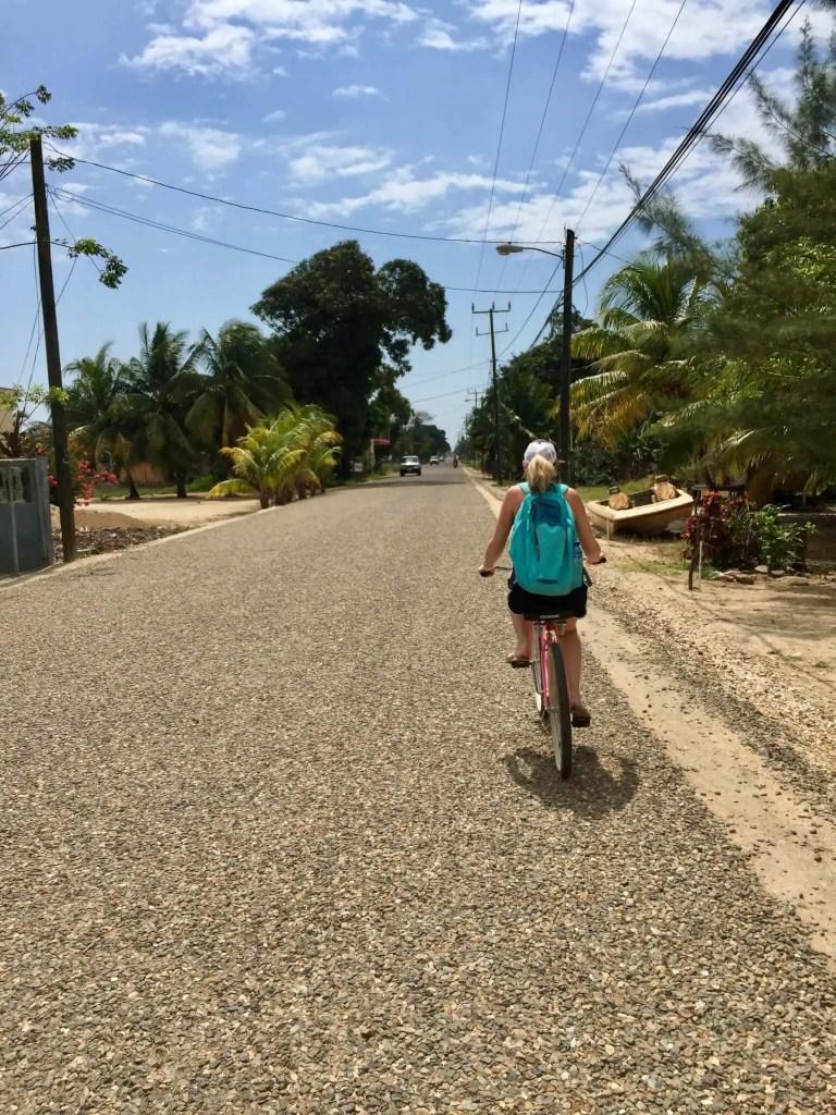 Brooke biking in Hopkins